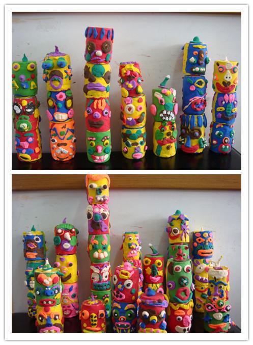 儿童泥塑作品图片步骤